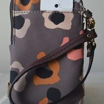 Nwt Fossil Grey Leopard Carryall Iphone Phone Wristlet Wallet Sl4525020 Photo