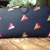 Nwt Fossil Hearts Zip-Around Wallet Sl6900 Photo