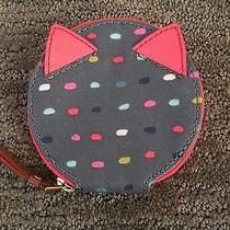 Nwt Fossil Keely Dotted Zip Cat Ears Coin Case Cute Photo