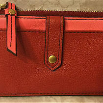 Nwtfossilkeelytab Card Caseleathersl7218red Multi40fossil Gift for Her Photo
