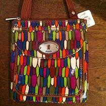 Nwt Fossil Key Per Mini Crossbody Multicolor Stained Glass Sl3088998 Photo