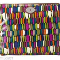 Nwt Fossil Key-Per  Tech Sleeve E Reader I Pad Cover Multi Colored Sl3079 Photo