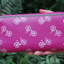 Nwt Fossil Key Per Zip Clutch Wallet Orchid Bike Bicycle Photo