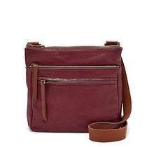 Nwt Fossil Leather Corey Crossbody Bag Wine Red & Brown Handbag Shoulder Satchel Photo