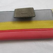 Nwt Fossil Leather Emma Tab Rfid Protected Wallet Retail 70.00 Photo