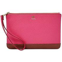 Nwt Fossil Leather Mother's Day Wristlet Pomegranate Gift Boxed Sl7007661 Photo