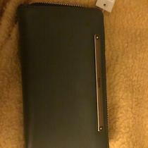 Nwt Fossil Liza Twilight Aloe Leather Zip Around Clutch Wristlet Wallet Photo