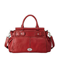 Nwt Fossil Maddox Bar Satchel (Claret Red) Zb5313599 Photo