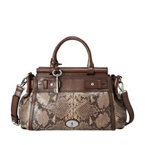 Nwt Fossil Maddox Bar Satchel (Dark Smoke) Zb5338075 Photo