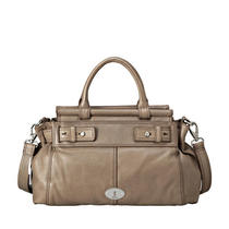 Nwt Fossil Maddox Bar Satchel (Taupe)  Zb5313271 Photo