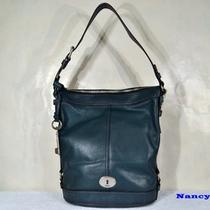 Nwt Fossil Maddox Bucket Tote Shoulder Bag Purse (Dark Green) Photo