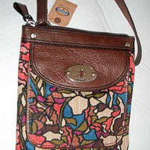 Nwt Fossil Maddox Mini Tapestry Floral Crossbody  95 Photo