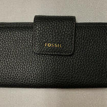 Nwt Fossil Madison Slim Clutch Black Leather Wallet Swl1574001 - 723764500752 Photo