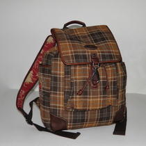 Nwt Fossil Men's Alpine Plaid Large Backpack School Laptop Book Travel Bag Photo