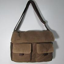 Nwt Fossil Men's Wagner Meddenger Messenger & Crossbody Computer Bag Khaki Photo