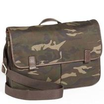 Nwt Fossil Mens Mercer Canvas Camo Ew East West Messenger Computer Bag Photo