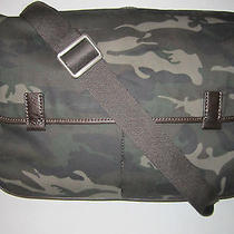 Nwt Fossil Mens Mercer Canvas Camo Ew Messenger Shoulder Computer Bag  Photo