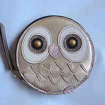 Nwt Fossil Metallic Gift Owl Zip Coin Purse Photo
