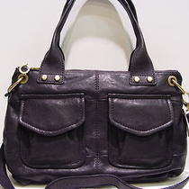 Nwt  Fossil Modern Satchel Black Bag Zb4523 Photo
