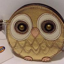 Nwt-Fossil Owl Coin Purse Bag Wallet Wristlet Photo