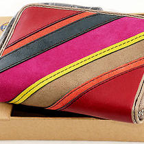Nwt Fossil Perfect Leather Wristlet Tech Case Credit Card Wallet Gift Box Stripe Photo