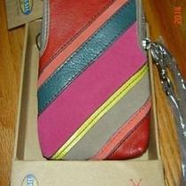 Nwt Fossil Perfect Patchwork Carryall Stripe Iphone Case Travel Retail- 35 Photo