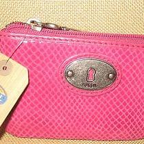 Nwt Fossil Perfect Zip Coin Purse 30 Credit Card Holder Key Pull Great Gift Photo