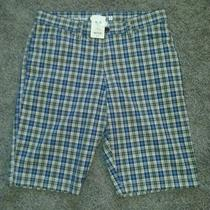 Nwt Fossil Plaid Cotton Mens Shorts Sz 30 Photo