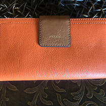Nwt Fossil Rfid Bright Leather Logan Tab Clutch Wallet  78 Photo