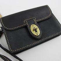 Nwt Fossil Sl3931001 Asutin Wristlet Wallet Vintage Black Leather Iphone Phone Photo