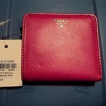 Nwt Fossil Sl4410695 Pink Gift Bifold Wallet Photo