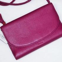 Nwt Fossil Sophia Raspberry Pink Leather Wallet Crossbody Shoulder Bag Clutch Photo
