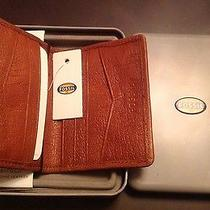 Nwt Fossil Tan Leather Oliver Card Case Bifold  Ml3597231 Photo