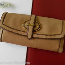 Nwt Fossil Tan Leather Vintage Revival Vri Flap Clutch Id Wallet Carryall Bag Photo