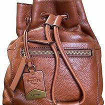 Nwt Fossil Vickery Mini Brown Leather Backpack Photo