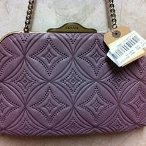 Nwt Fossil Vintage Inspired Lilac Shoulder Bag Vrv Sig Photo