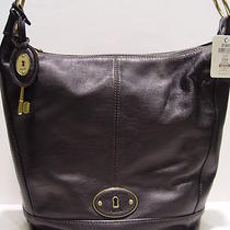 Nwt  Fossil Vintage Re-Issue Hobo Black Leather Bag Zb5188 Photo