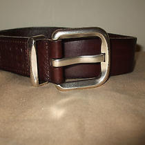 Nwt Fossil Women's Belt Chocolate Brown Genuine Leather Large 38 Photo