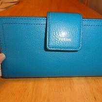 Nwt Fossil Women's Logan Leather Tab Clucth Wallet Photo