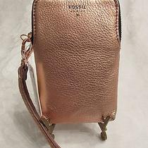 Nwt Fossil Wrist Carryall - Rose Gold Sparkle Photo