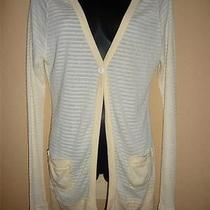 Nwt Free People Antique Yellow Stripe Cardigan M 88 Photo