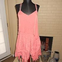 Nwt Free People Intimately Tattered Up Shred Slip Dress Coral Blush  Size Small Photo