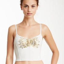 Nwt Free People Wireless Crop Bralette White Gold - Size Large (Retail 48) Photo