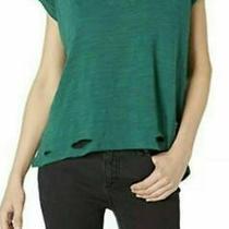 Nwt Free People Women's Sundance Shirt Tee Knit Top Shirt Shadow Green S Small Photo