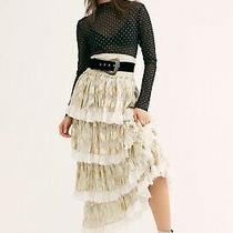 Nwt Free People X Jens Pirate Booty Sz M Elsa Ruffle Tiered Smocked Maxi Skirt Photo