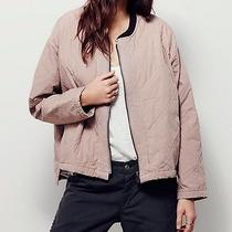 Nwt Free People Xs Blush Pink Quilted Liner Aviator Bomber Jacket Retails 148 Photo