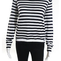 Nwt French Connection Black White Tuscan Knits Woven Back Jumper Top Sz M 98 Photo
