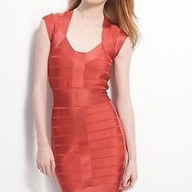 Nwt French Connection Ribbon Knits Spotlight Bandage Dress Tuscan Orange Us Sz 8 Photo