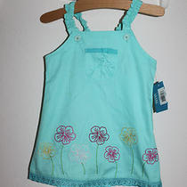 Nwt French Toast Aqua Floral Eyelet Trim Easter Spring Mothers Day Dress 18mos Photo