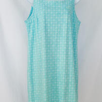 Nwt Fresh Produce L Geometric Light Blue Tank Sleevless Dress Tunic Coverup Photo